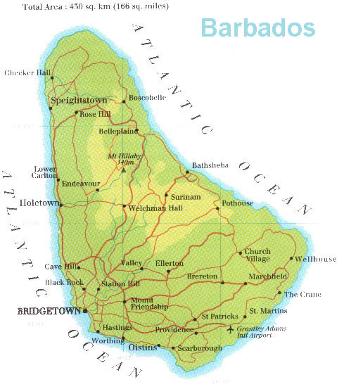 Barbados Map mappery
