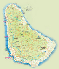 Barbados Tourist Map