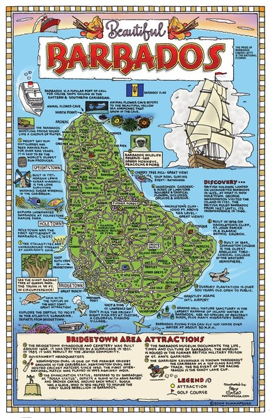 Holetown tourist map holetown barbados mappery barbados tourist map publicscrutiny Choice Image