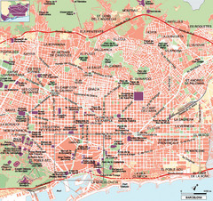 Map Of Spain Near Barcelona.Barcelona Surrounding Area Road Map Barcelona Spain Mappery