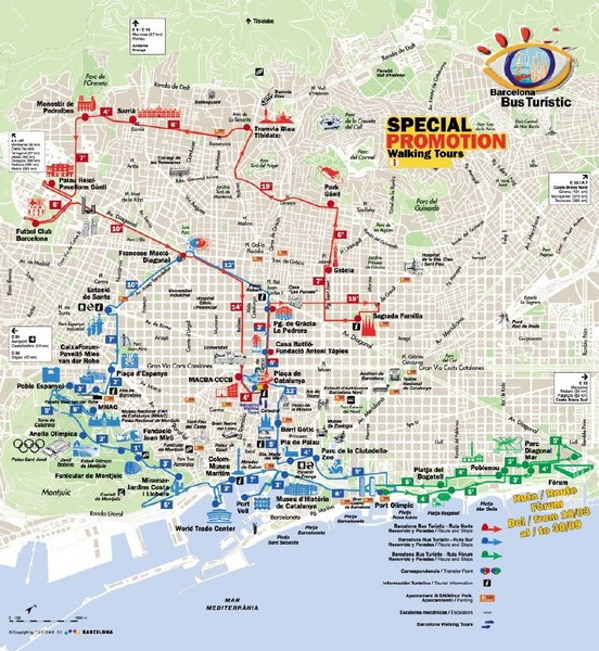 Barcelona Walking Tour Map