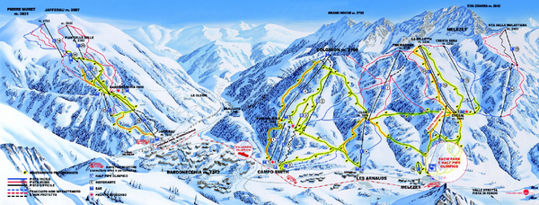 Bardonecchia Ski Trail Map