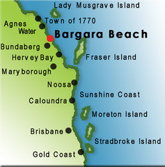 Bargara Beach, Australia Tourist Map