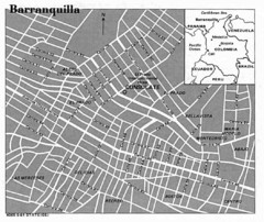 Barranquilla City Tourist Map