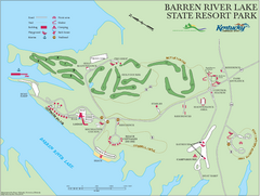 Barren River Lake State Resort Park Map
