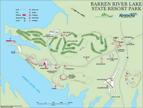Barren River State Park map