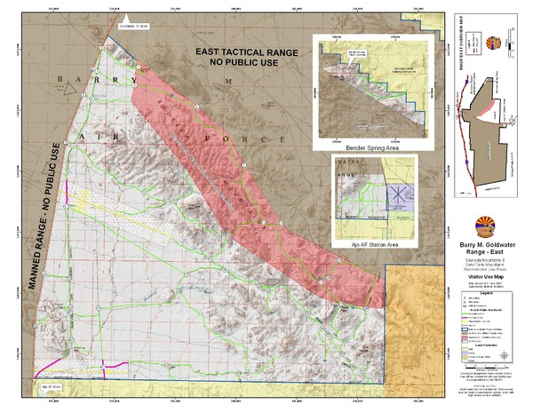 Barry M. Goldwater Range Topographical Map
