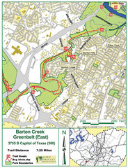 Barton Creek Greenbelt Map
