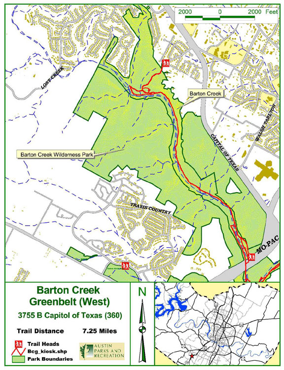 barton creek greenbelt west map barton creek grenbelt mappery