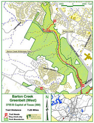 Barton Creek Greenbelt West Map