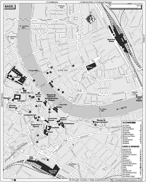 Basel Tourist Map