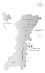 Basic Southern Thailand Tourist Map