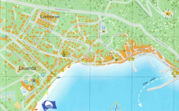 Baska Krk Tourist Map