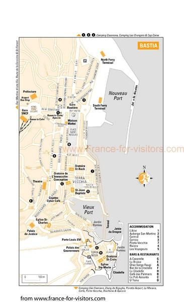 Bastia Tourist Map Bastia France mappery