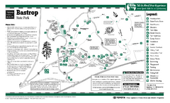 Bastrop, Texas State Park Map