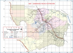 Bat Dambang Province Cambodia Road Map