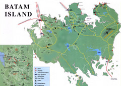 Batam Tourist Map