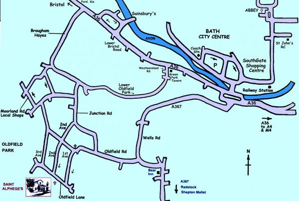 Bath Map England