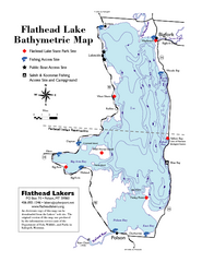 Bathymetric Map of Flathead Lake
