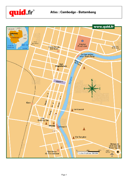 Battambang City Map