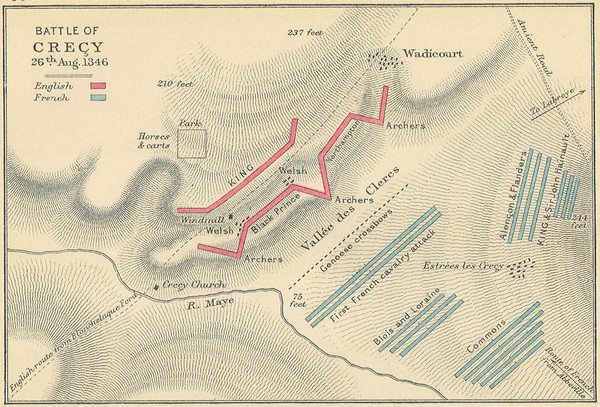 Battle of Crecy Map