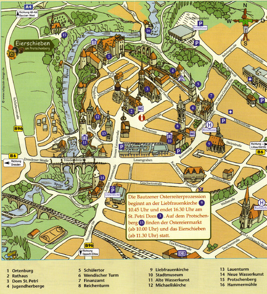Dresden On Map Of Germany.Bautzen Tourist Map Bautzen Germany Mappery