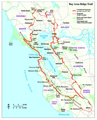 Bay Area Ridge Trail Map