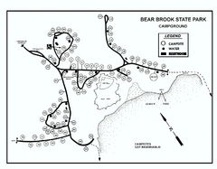 Bear Brook State Park Campground map