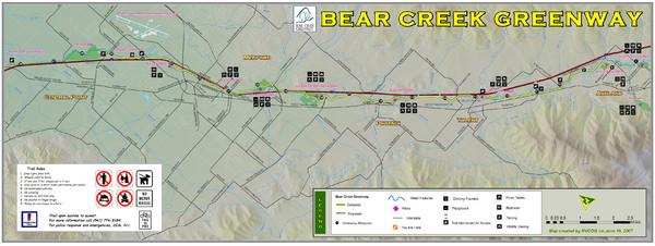 Bear Creek Greenway Map Medford Oregon Mappery