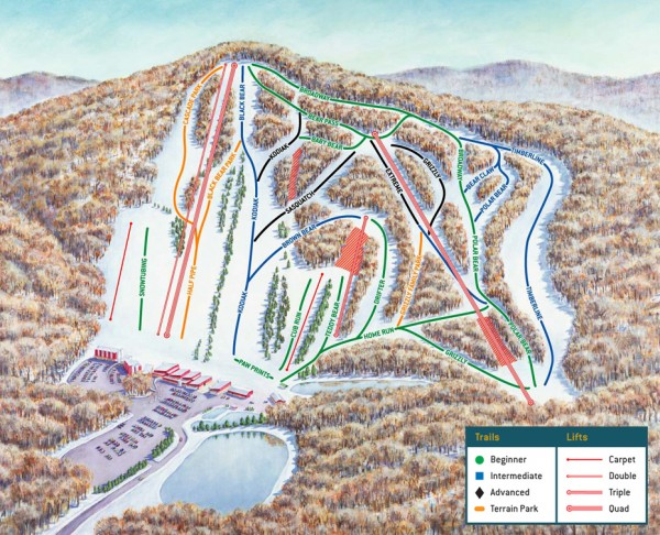 Bear Creek Ski Trail Map