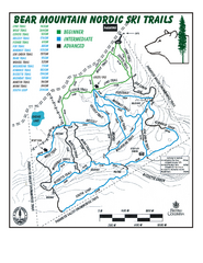 Bear Mountain Nordic Ski Trail Map