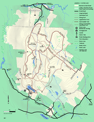 Beartown State Park Winter Map