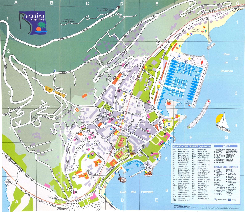Beaulieu sur Mer Map   beaulieu sur mer fr • mappery