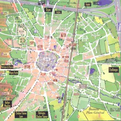 Beaune plan general Map