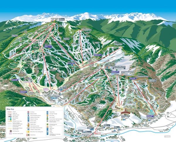 Beaver Creek Resort Ski Trail Map Avon Colorado United States