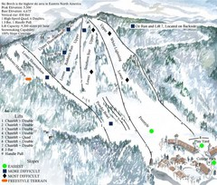 Beech Mountain Ski Resort Ski Trail Map