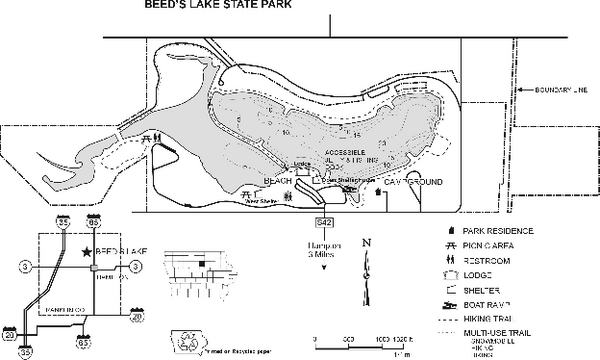 Beeds Lake State Park Map