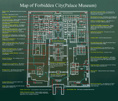 Beijing Forbidden City Tourist Map