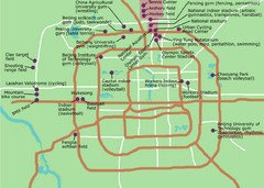 Beijing Olympic Venues Map