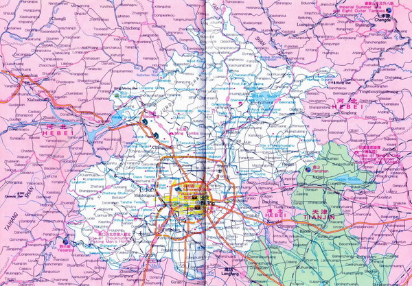 Beijing Province Map - Beijing China • mappery