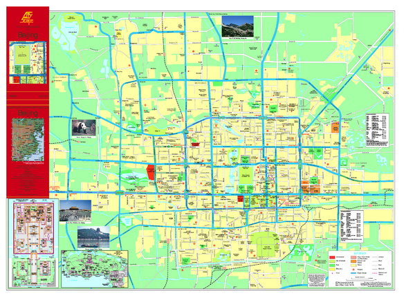 real life map collection mappery – Beijing Tourist Attractions Map
