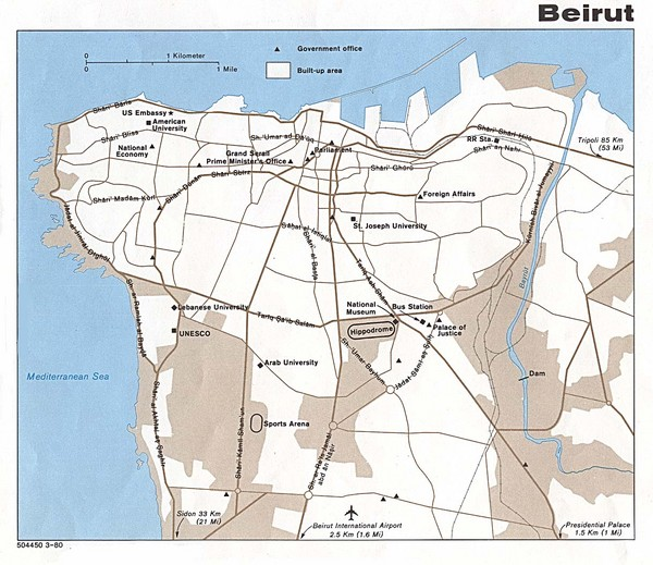 Beirut Tourist Map