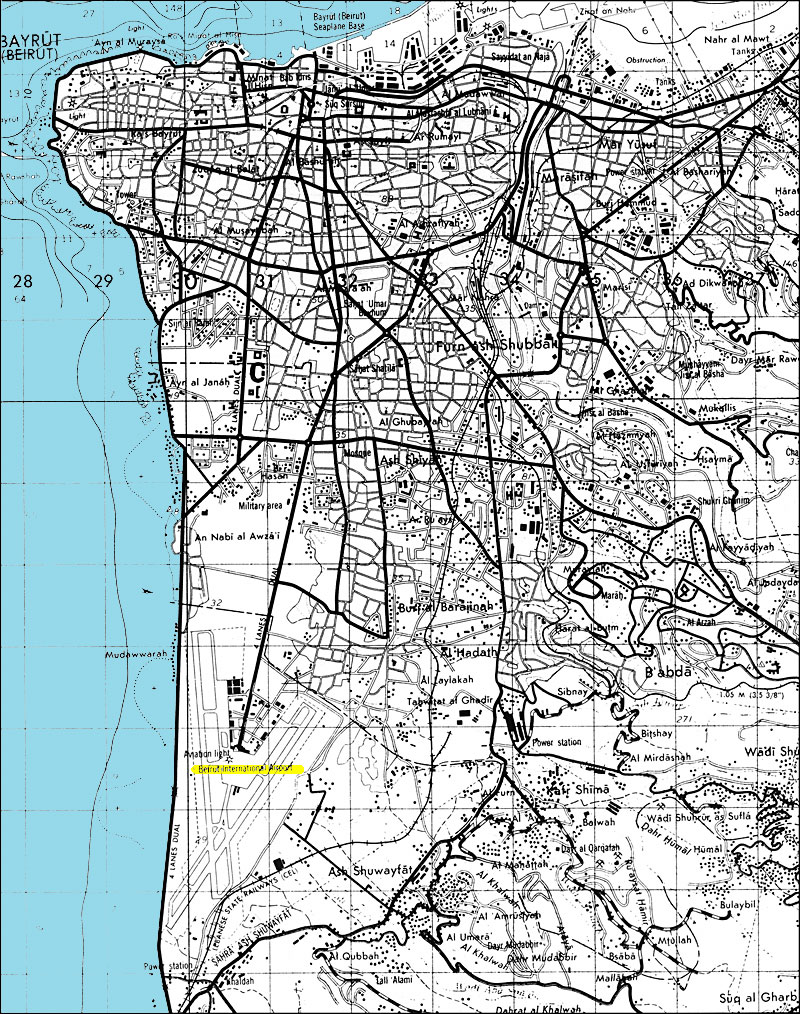 beirut tourist map beirut tourist map beirut mappery beirut