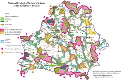 Belarus National Ecological Network Map