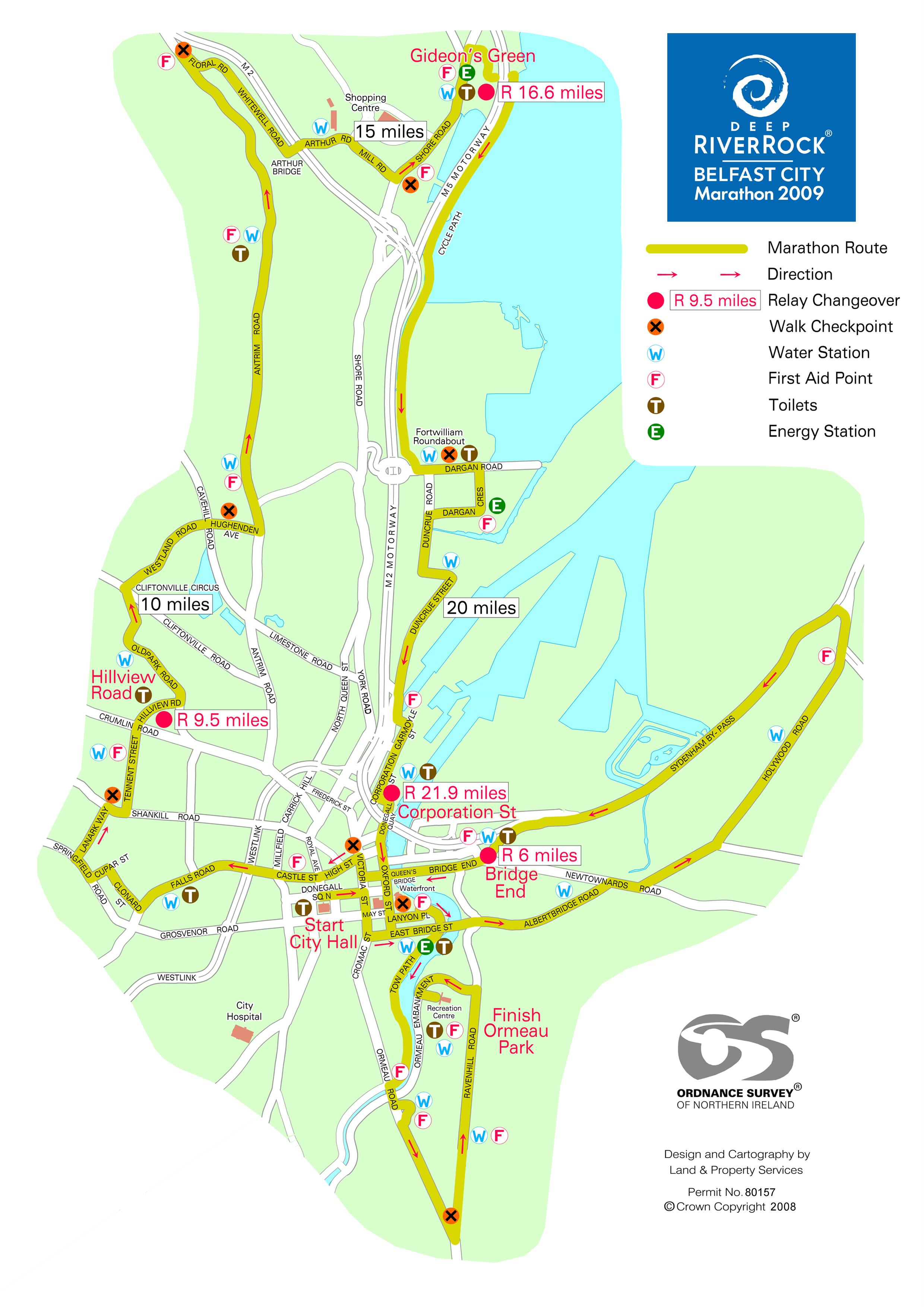 Belfast City Marathon Map - Belfast City NI • mappery