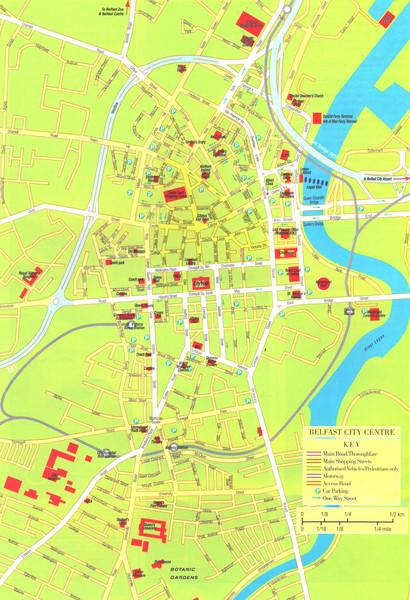 Belfast Tourist Map
