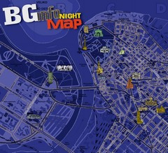 Belgrade Night Map