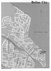 Belize City - U.S. Department of State, 1981 Map