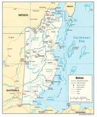 Belize Tourist Map