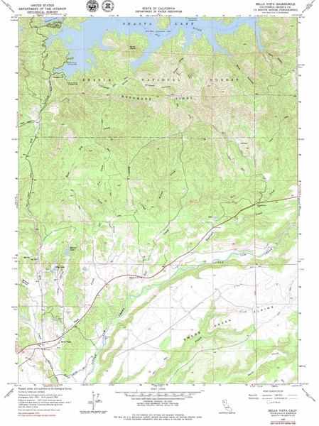 Bella Vista Quad - Shasta Lake Map